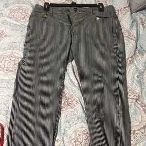 Pinstriped Work Pants